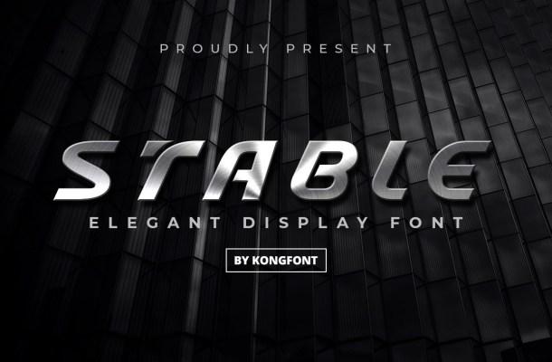 Stable Elegant Display Font