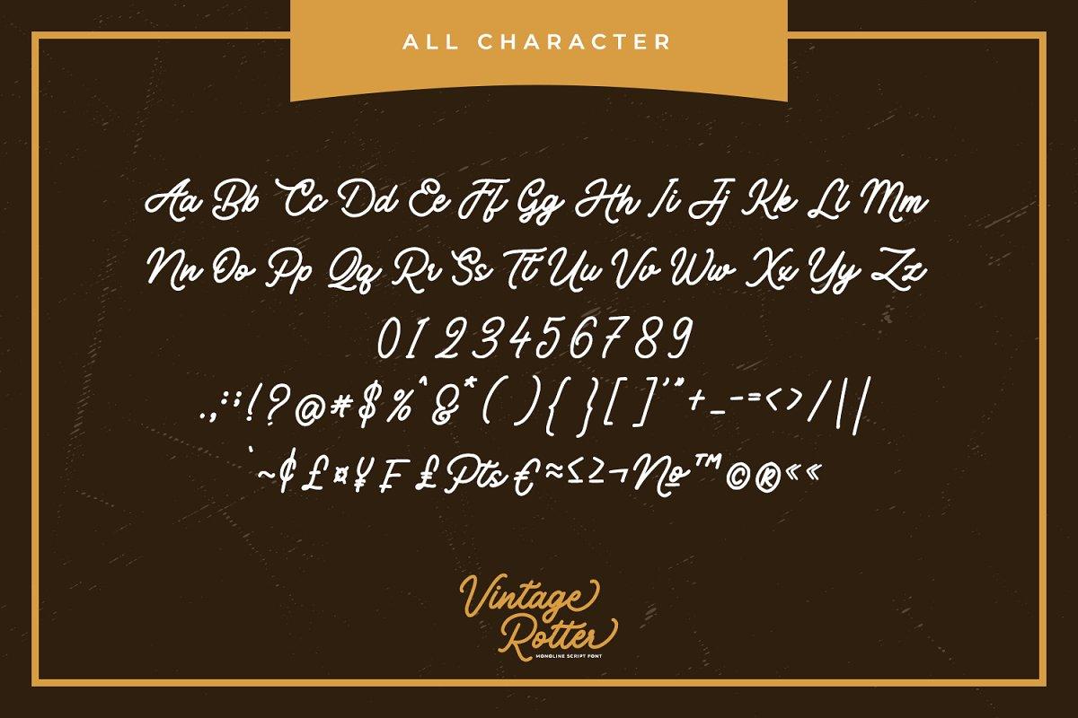 Vintage Rotter Font-3
