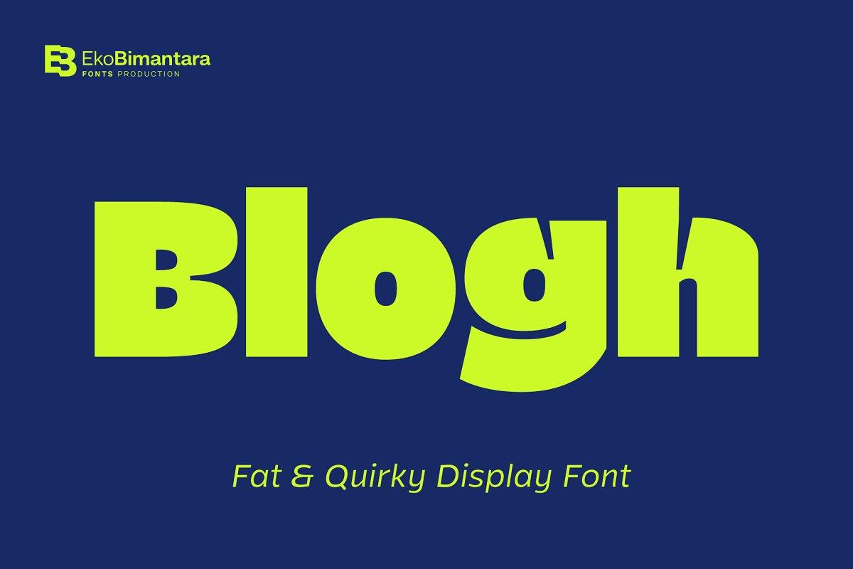 Blogh Font
