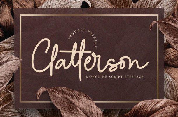 Clatterson Typeface