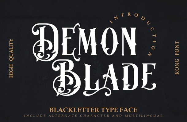 Demon Blade Typeface