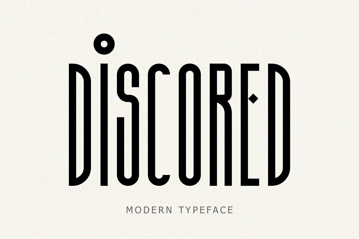 Discored Typeface