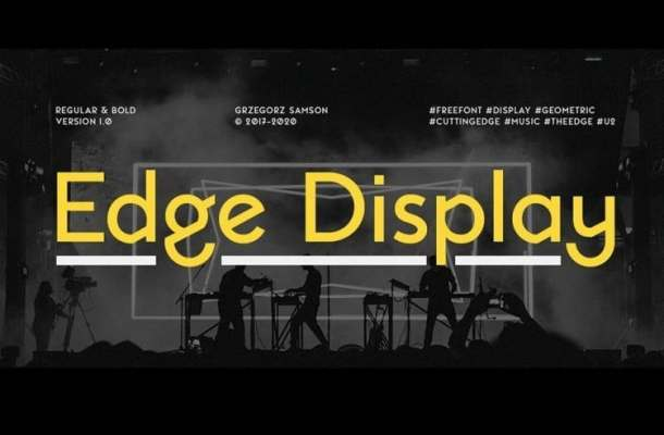 Edge Display Font