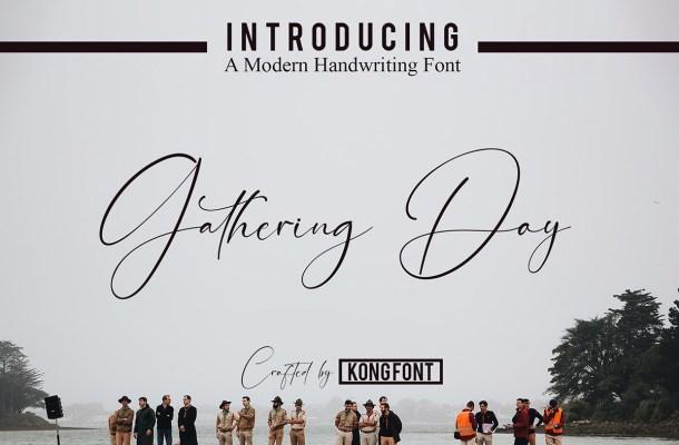 Gathering Day Font