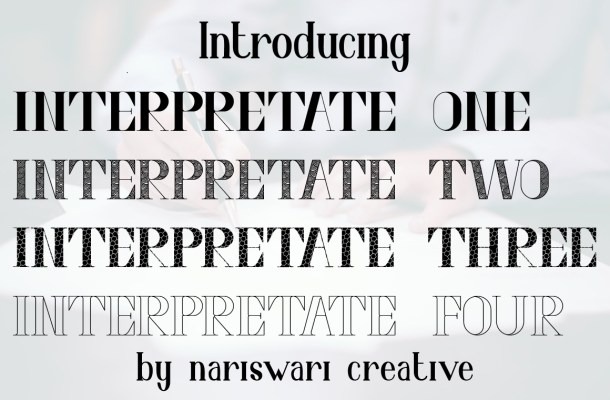 Interpretate Four Font
