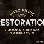Restoration Font