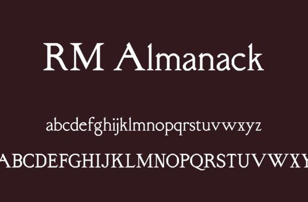 RM Almanack Font