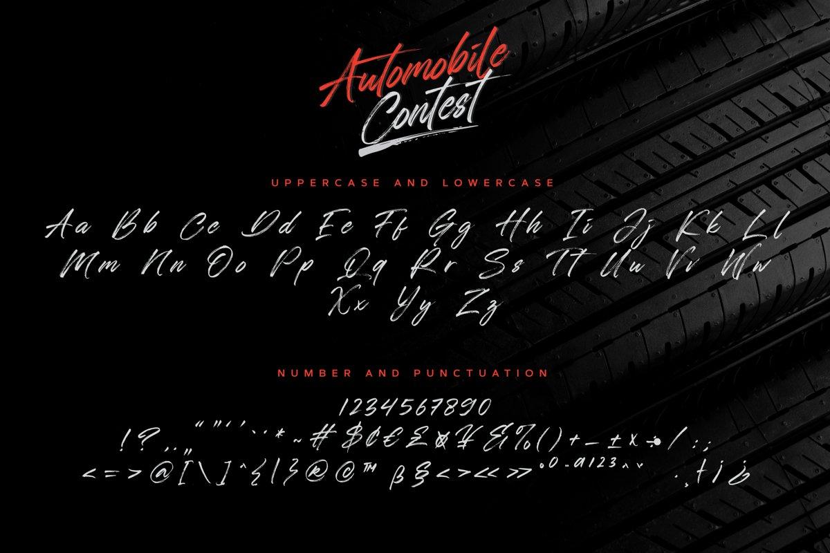 Automobile Contest Font-3