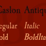Caslon Antique Font