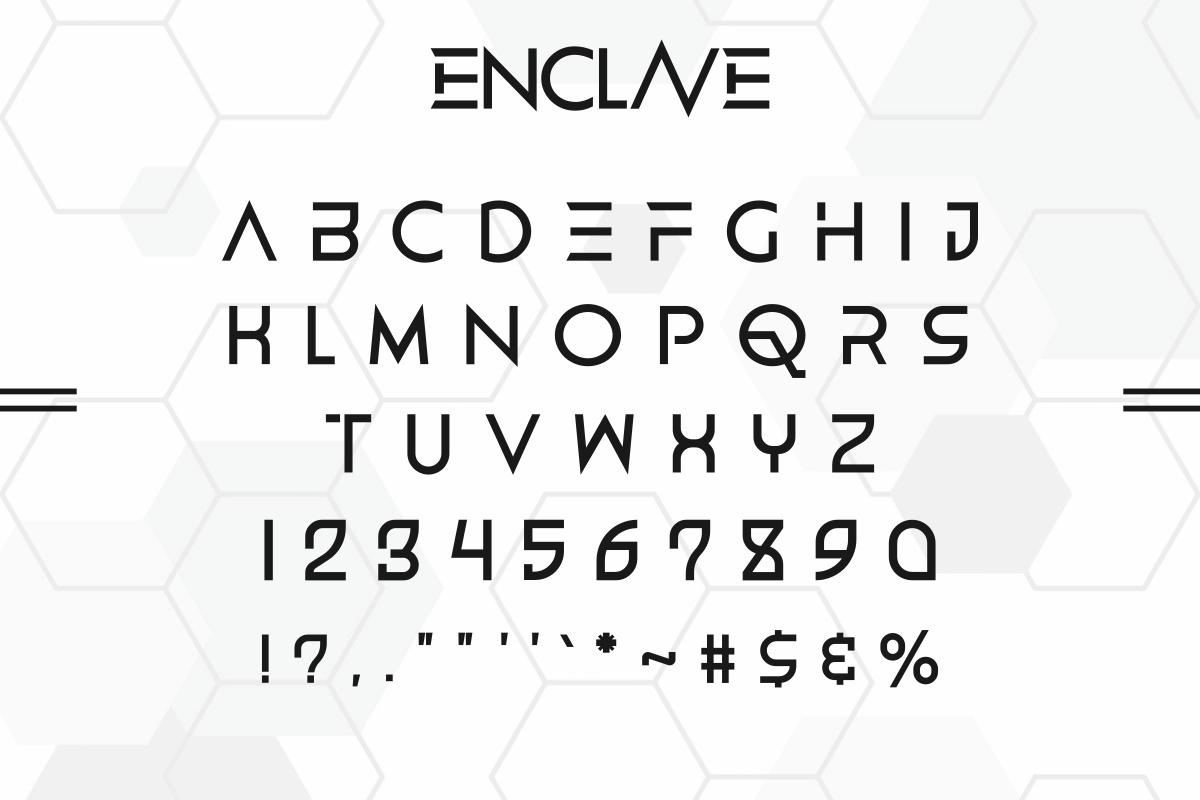 ENCLAVE Font-3