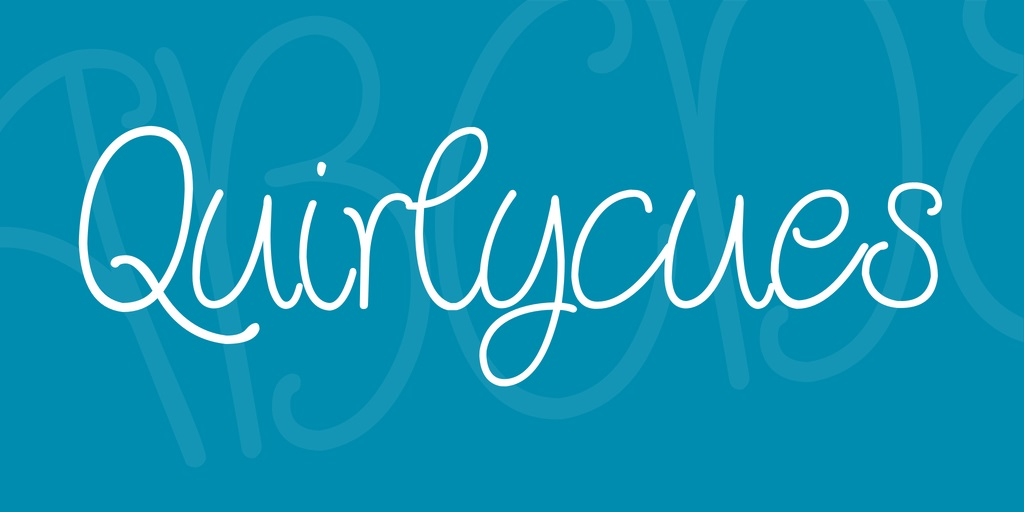 Quirlycues Font-2