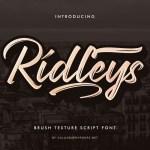 Ridleys Font