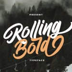 Rolling Bold Typeface