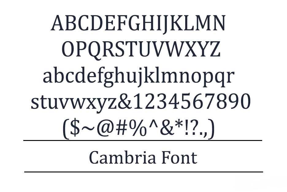 Cambria Font-2