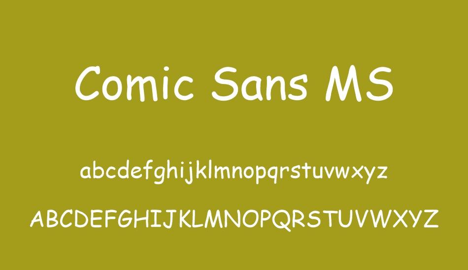 Comic Sans MS Font-3