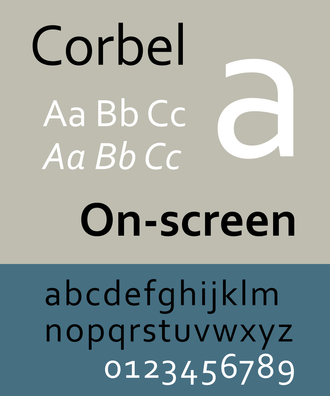 Corbel Font-2