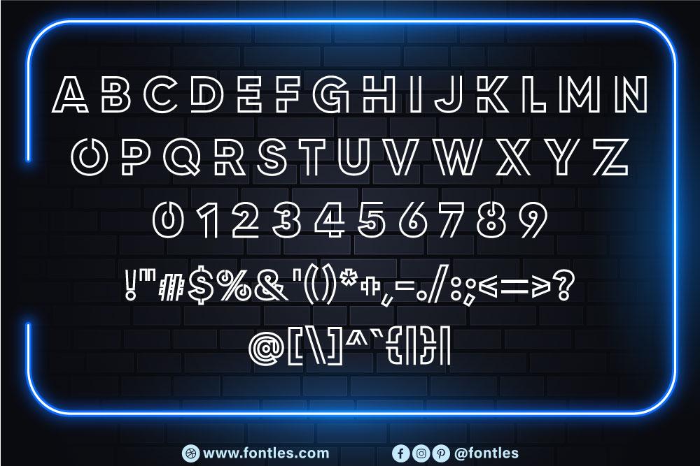 Neon Led Light Font-3