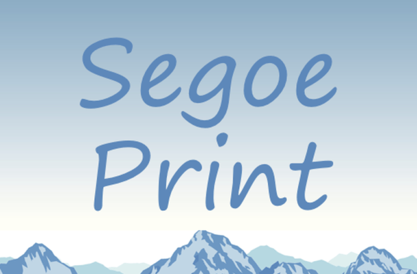 Segoe Print Font