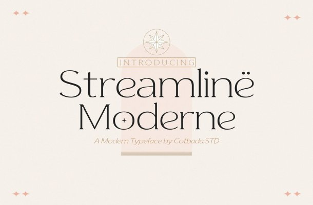 Streamline Moderne Font
