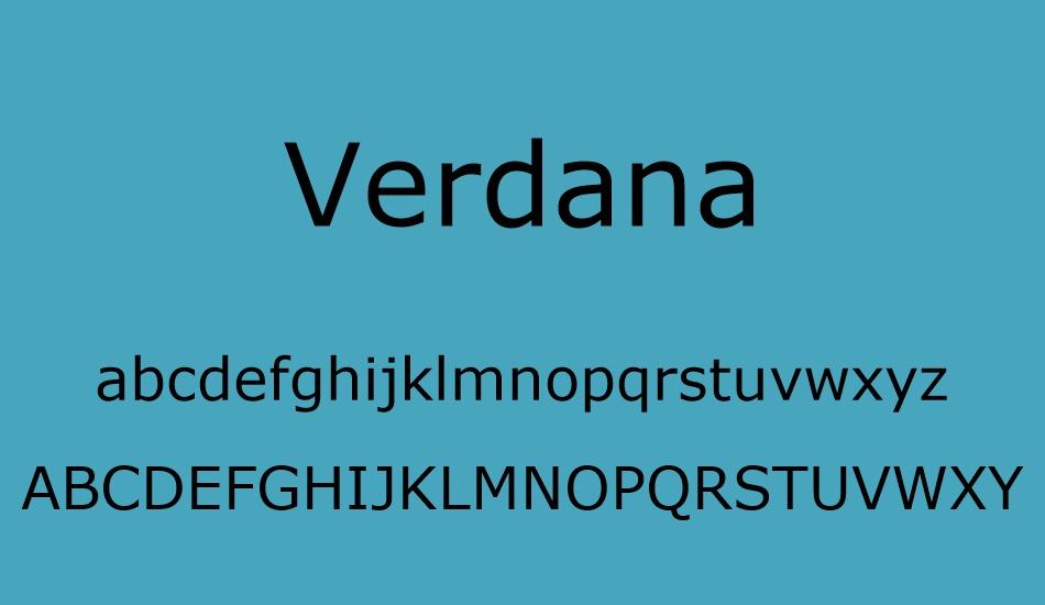 Verdana Font-2