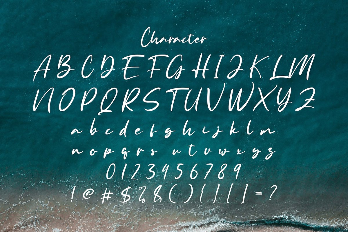 Anyer Beach Font-3
