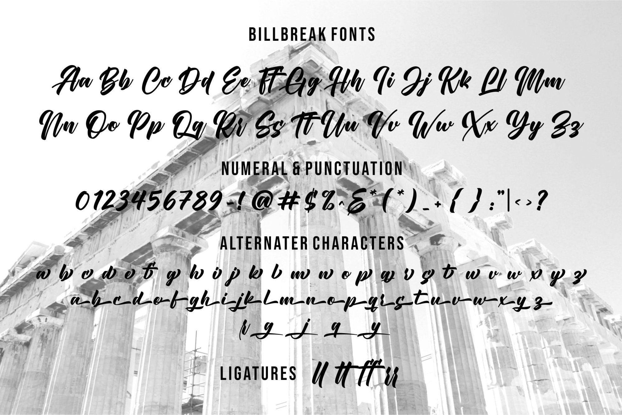 Billbreak Font-3