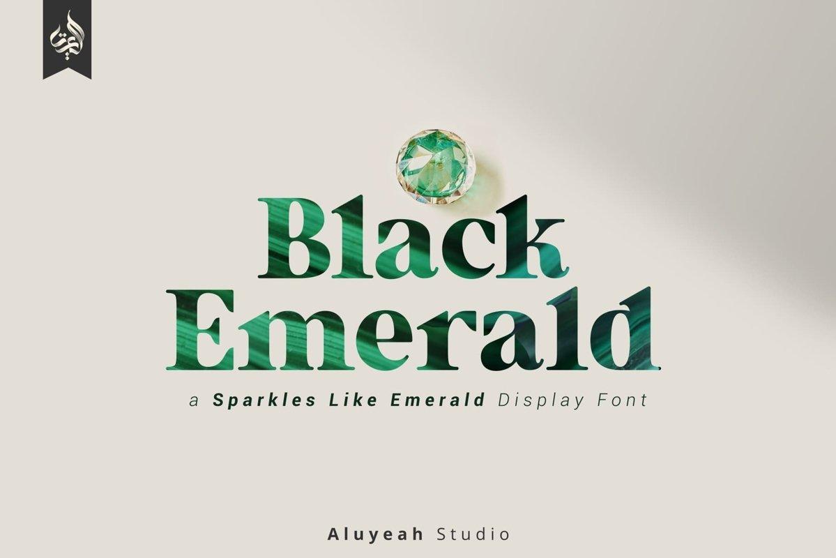 Black Emerald Font