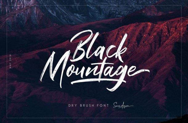 Black Mountage Font