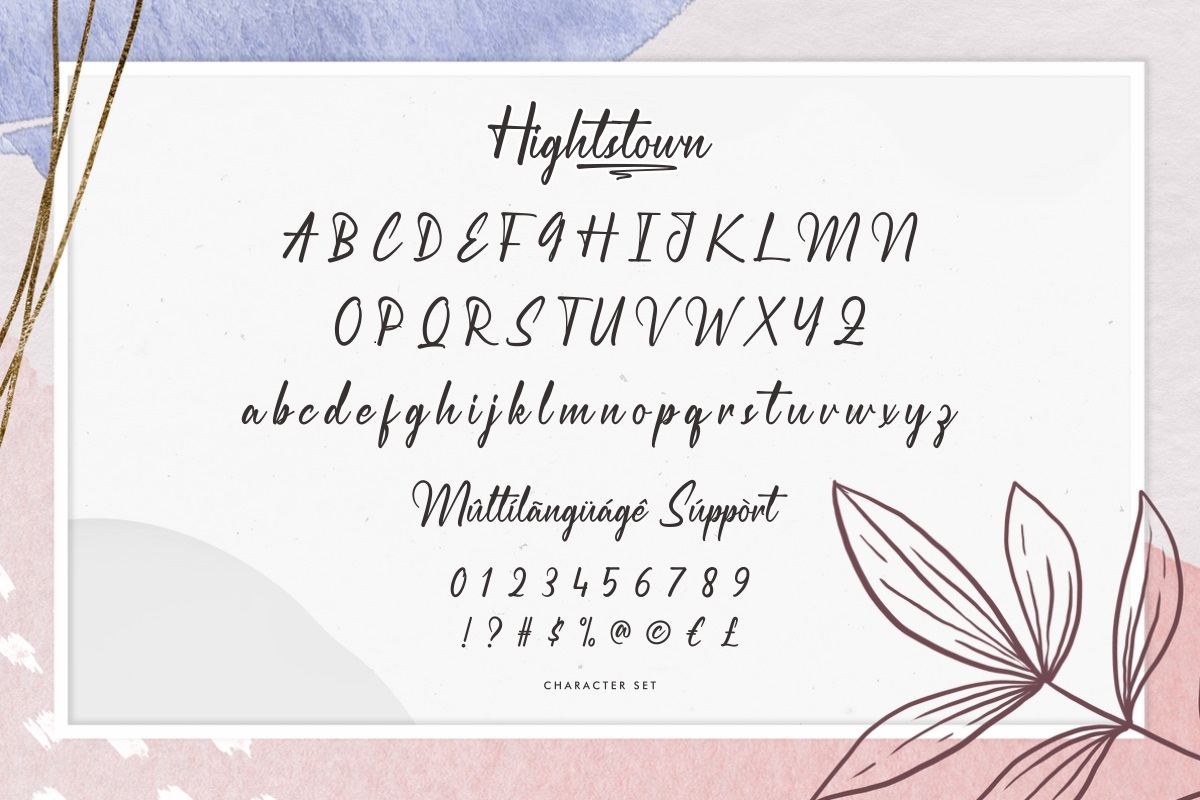 Hightstown Font-3