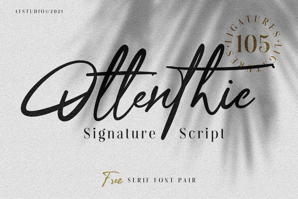 Ottenthic Signature Script Font