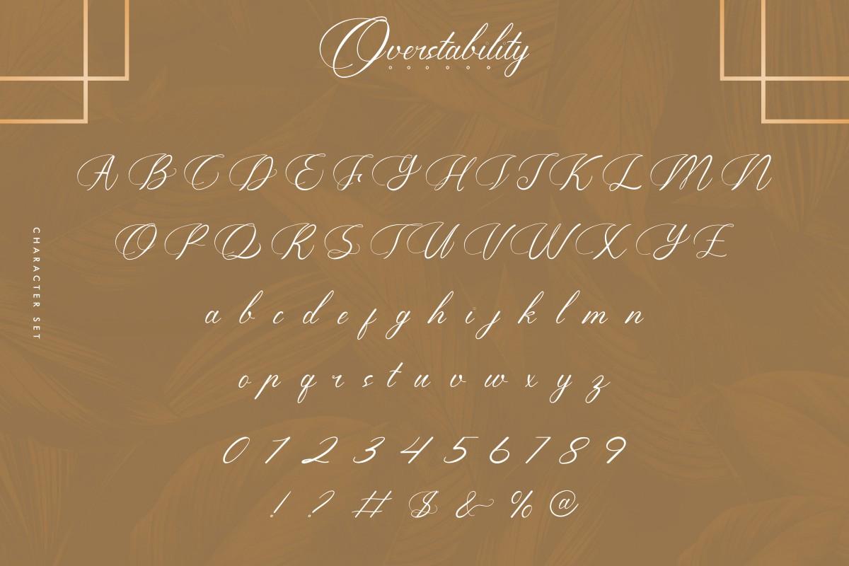 Overstability Font-3