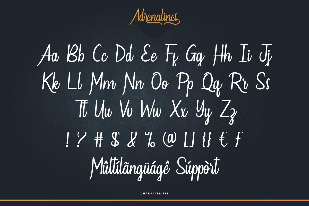 Adrenalines Font-3