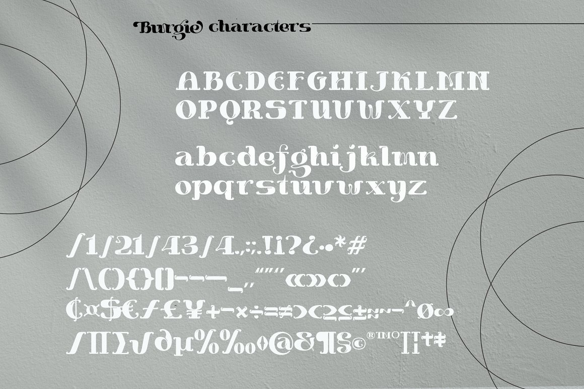 Burgie Font-3