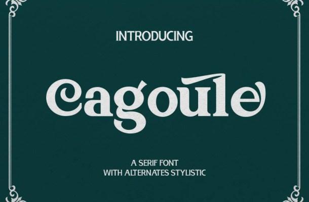 Cagoule Font