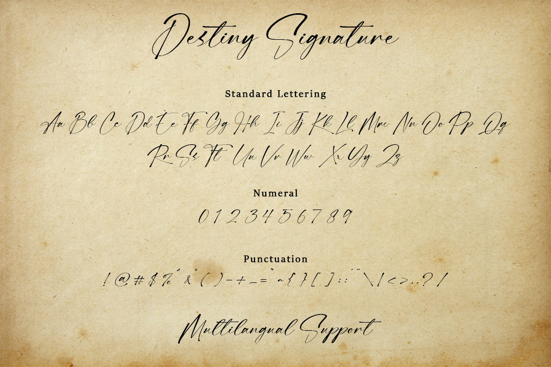 Destiny Signature Font-3