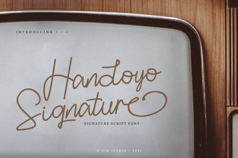 Handoyo Signature Font