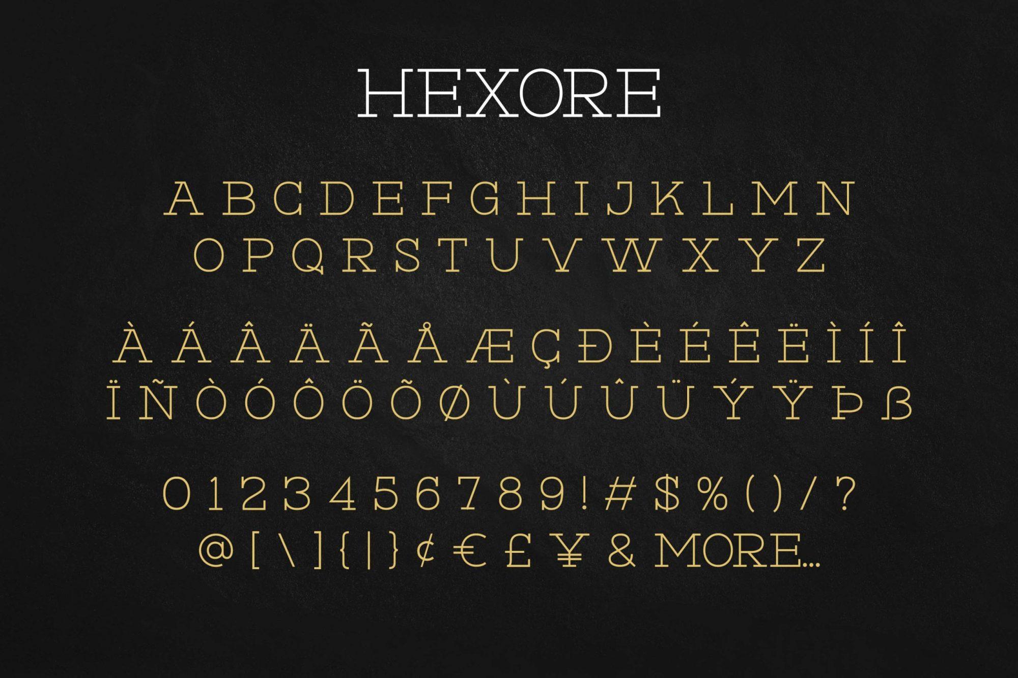 Hexore Font-3