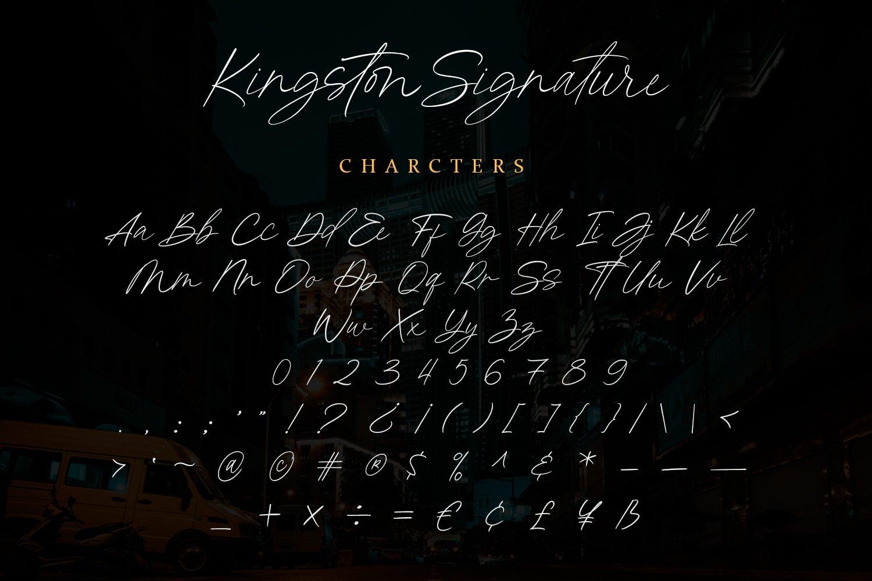 Kingston Signature Font-3
