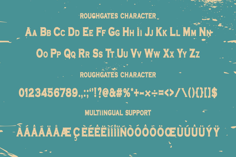 Roughgates Font-3