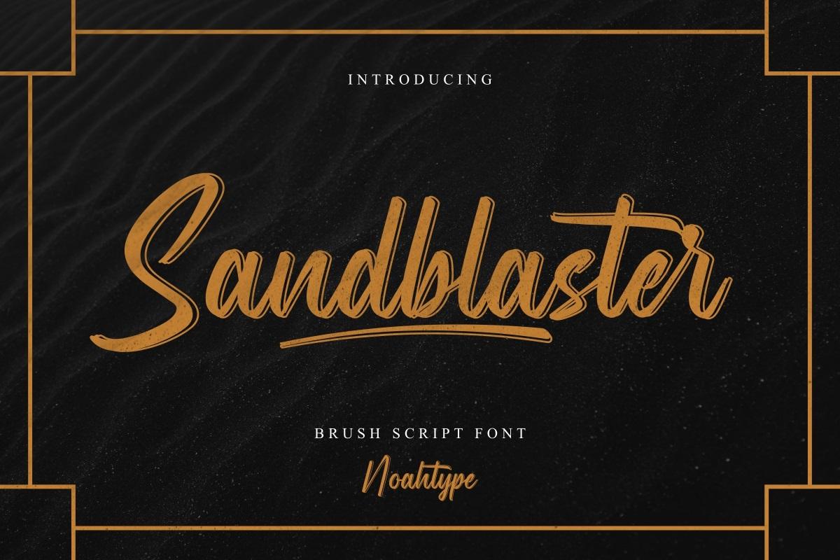 Sandblaster Font