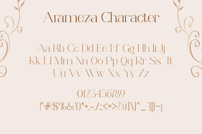 Arameza Font-3