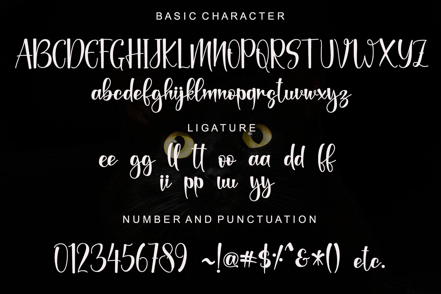 Black Catthie Font-3
