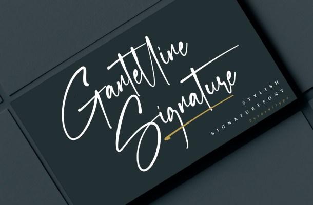 Gantelline Signature Font