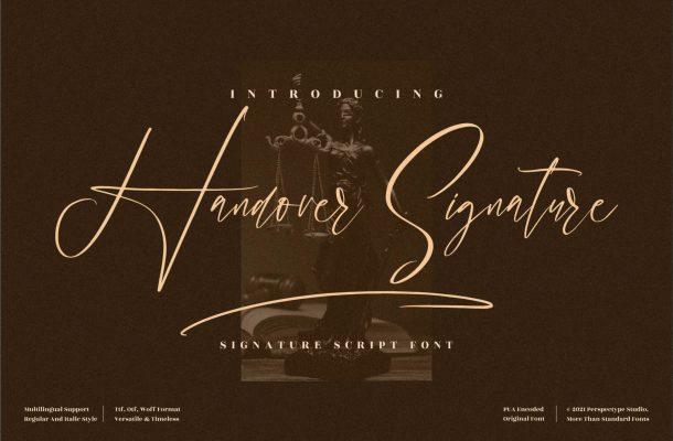 Handover Signature Font
