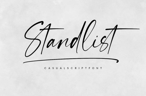 Standlist Font