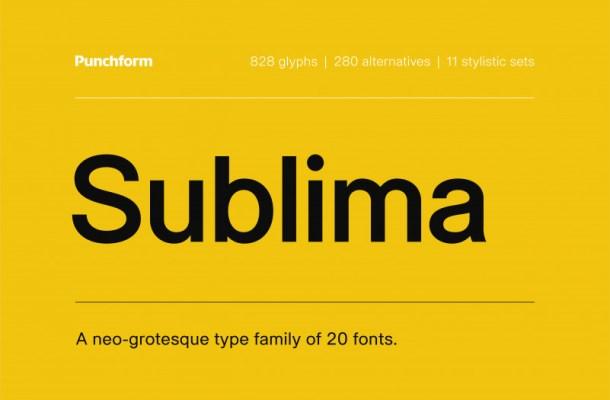 Sublima Font