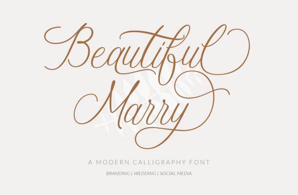 Beautiful Marry Font