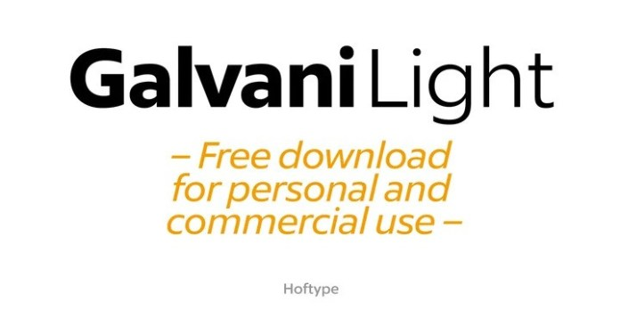 Galvani Font-2