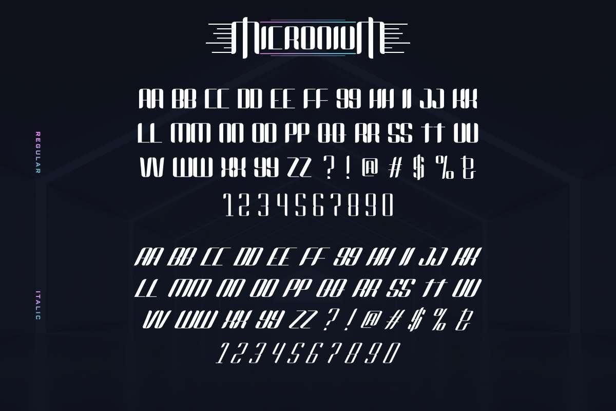 Micronium Font-3
