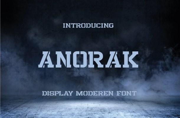 Anorak Font